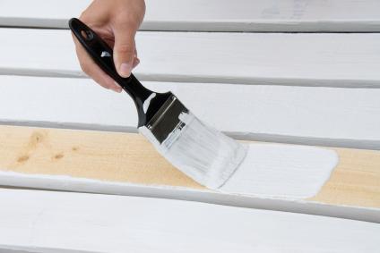 Painting wooden slats